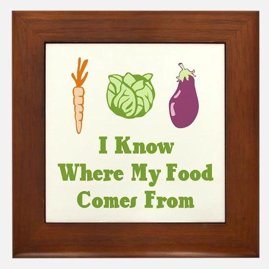 My Food Framed Tile