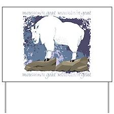 Mountain Goat Yard Sign