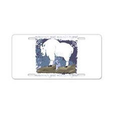 Mountain Goat Aluminum License Plate