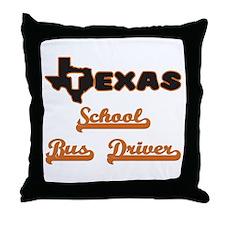 Texas School Bus Driver Throw Pillow