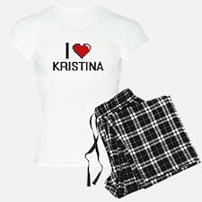 I Love Kristina Digital Ret Pajamas