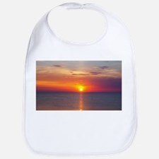 Red Sunrise Over Ocean (2) Bib