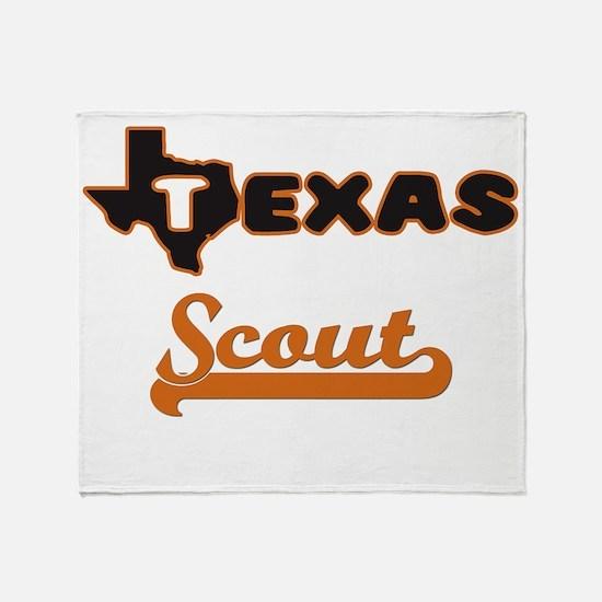Texas Scout Throw Blanket