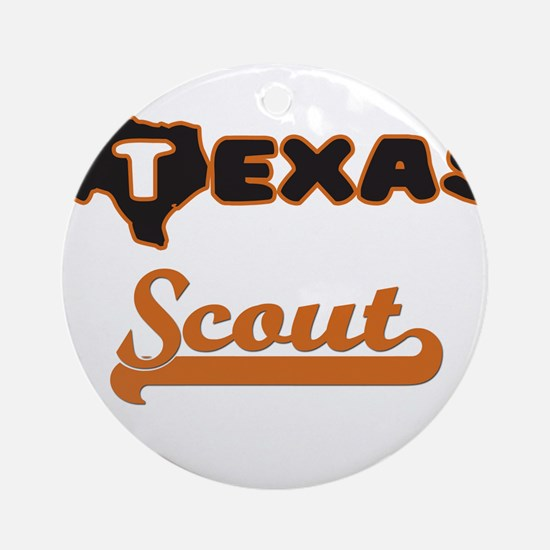 Texas Scout Ornament (Round)