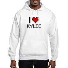 I Love Kylee Digital Retro Desig Hoodie