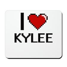 I Love Kylee Digital Retro Design Mousepad