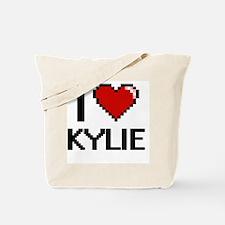 I Love Kylie Digital Retro Design Tote Bag