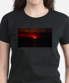 Red Sunrise Over The Atlantic Ocean in Jun T-Shirt