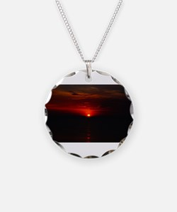Red Sunrise Over The Atlanti Necklace