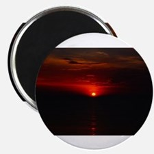 Red Sunrise Over The Atlantic Ocean in Jun Magnets