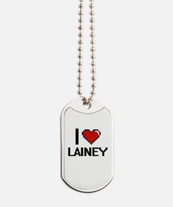 I Love Lainey Digital Retro Design Dog Tags