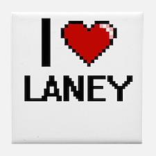 I Love Laney Digital Retro Design Tile Coaster