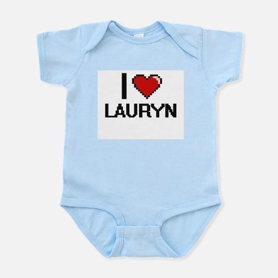 I Love Lauryn Digital Retro Design Body Suit