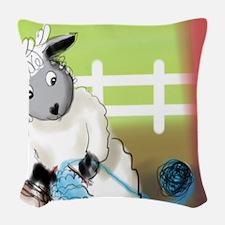 knitting barn Woven Throw Pillow