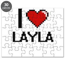 I Love Layla Digital Retro Design Puzzle