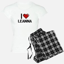 I Love Leanna Digital Retro Pajamas