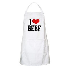 I Love Beef BBQ Apron
