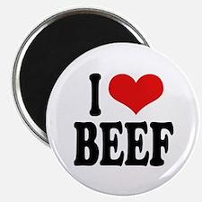 "I Love Beef 2.25"" Magnet (10 pack)"