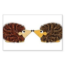 Cuddley Hedgehog Couple Rubbing Noses Decal