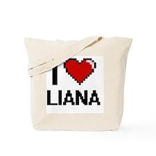 I Love Liana Digital Retro Design Tote Bag