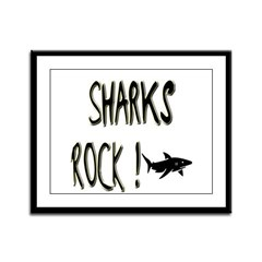 Sharks Rock ! Framed Panel Print