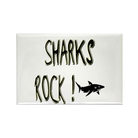 Sharks Rock ! Rectangle Magnet