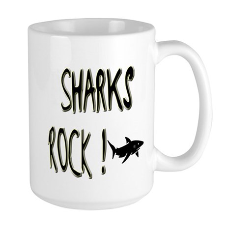 Sharks Rock ! Large Mug