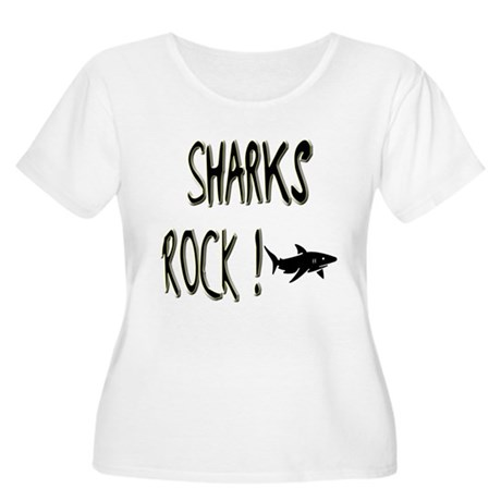Sharks Rock ! Women's Plus Size Scoop Neck T-Shirt