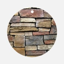 Brick Stone Wall Round Ornament
