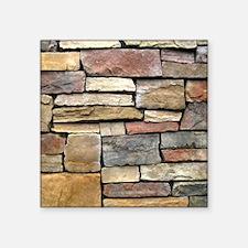 """Brick Stone Wall Square Sticker 3"""" x 3"""""""