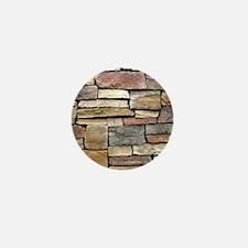 Brick Stone Wall Mini Button