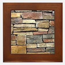 Brick Stone Wall Framed Tile