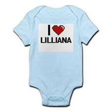 I Love Lilliana Digital Retro Design Body Suit