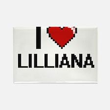 I Love Lilliana Digital Retro Design Magnets