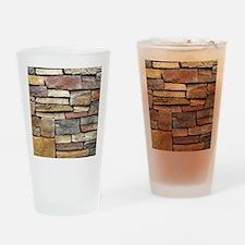 Brick Stone Wall Drinking Glass