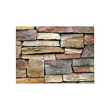 Brick Stone Wall 5'x7'Area Rug