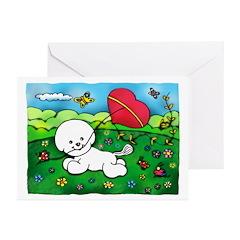 The Bichon's Kite Greeting Cards (Pk of 20)