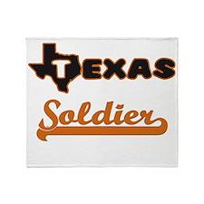 Texas Soldier Throw Blanket