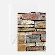 Brick Stone Wall Greeting Cards