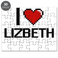 I Love Lizbeth Digital Retro Design Puzzle