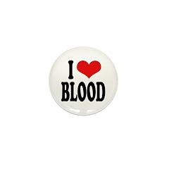 I Love Blood Mini Button (10 pack)