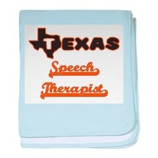 Texas Speech Therapist baby blanket