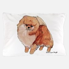 Pomeranian Watercolor Pillow Case