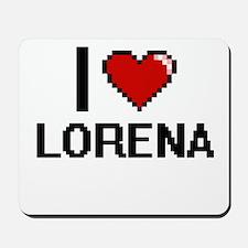 I Love Lorena Digital Retro Design Mousepad