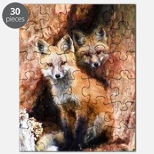 Fox Cubs in Hollow Tree Puzzle