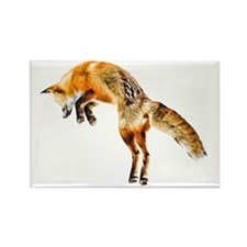 Leaping Fox Rectangle Magnet