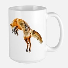 Leaping Fox Large Mug