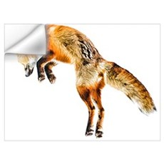 Leaping Fox Wall Decal