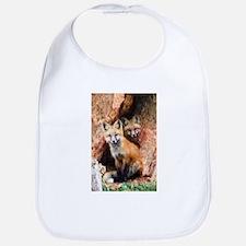 Fox Cubs in Hollow Tree Bib