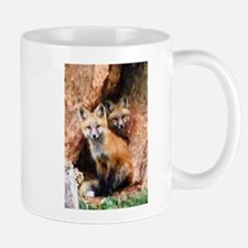 Fox Cubs in Hollow Tree Mugs